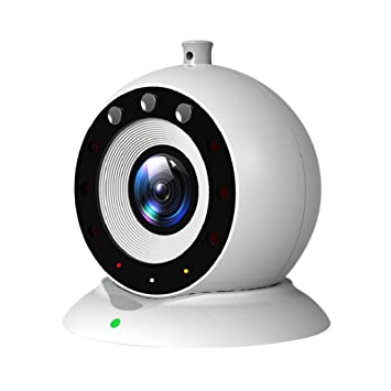 Baoblaze Videovigilancia Inalámbrica Videocámara WiFi de Seguridad con Visión Noche/Sensor de Movimiento, para