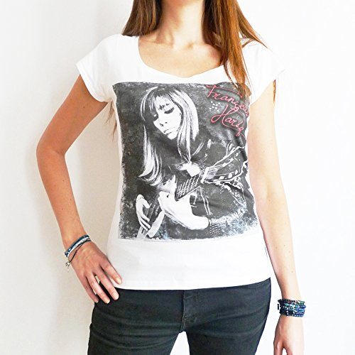 One in the City Françoise Hardy: Woman's T-shirt Short-Sleeve Celebrity Star White (Best Of Francoise Hardy)