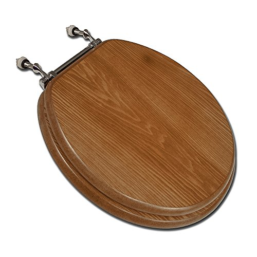 (Comfort Seats C3B2R118CH Round Decorative Wood Toilet Seat)