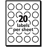 Avery White Round Labels with Sure