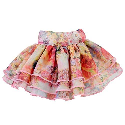 Pet Costume, OOEOO Cute Puppy Apparel Flower Short Skirt Style Pet Dress Dog Cat Clothes (Pink, S)