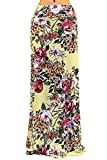 GotStyle Women's Patterned Maxi Skirt Ankle Length, Small, Spring Flowers