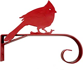 """product image for Cardinal Red Bird Wall-Mounted Plant Hanger Bracket, 11.5"""", American Made"""