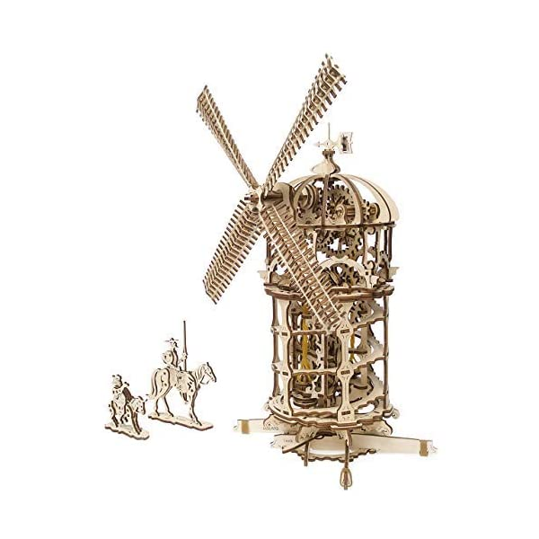 UGEARS Tower Windmill 3D Wooden Model DIY Self-Assembling Brainteaser Adult and Teens Craft Kit Gift 3