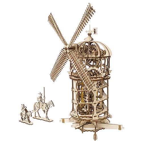 Windmill Tower (UGEARS Tower Windmill 3D Wooden Model DIY Self-Assembling Brainteaser Adult and Teens Craft Kit Gift)