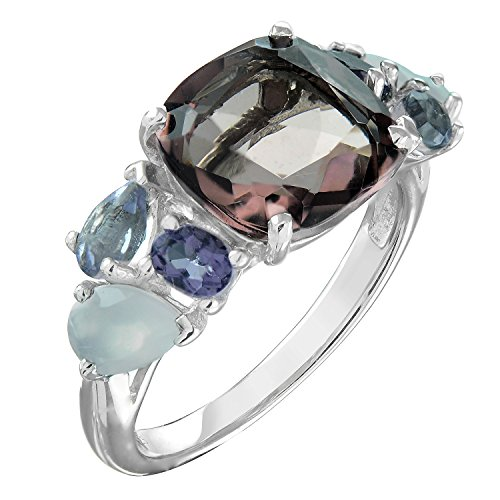 color gem stone rings - 6