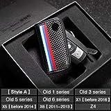 炭素繊維革車のキーケースカバー Bmw E90 F30 F34 F10 E70 E71 X1 X3 X4 X5 X6 1 2 3 4 5 6 7 セリエキーホルダー財布バッグ-Style A