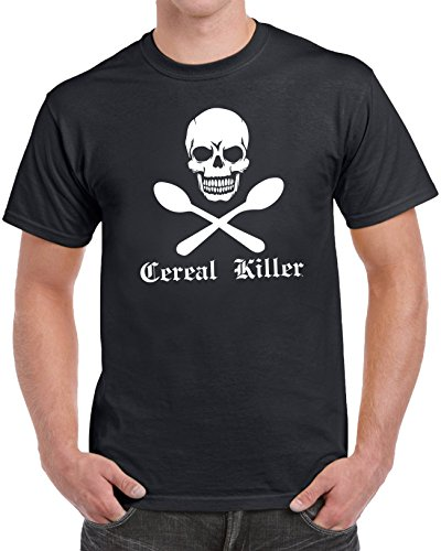 [Cereal Killer Men's Funny Humor Halloween Costume T-Shirt (Small) - Black] (Cereal Killer Costumes)