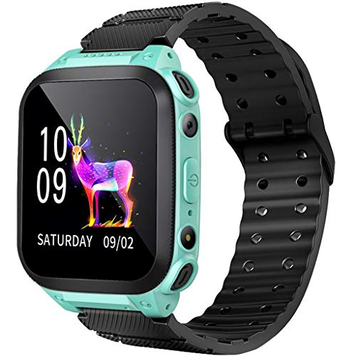 GXOK Smartwatch for Children with Call GPS Alarm Clock with Android App (Green) (App Gps)