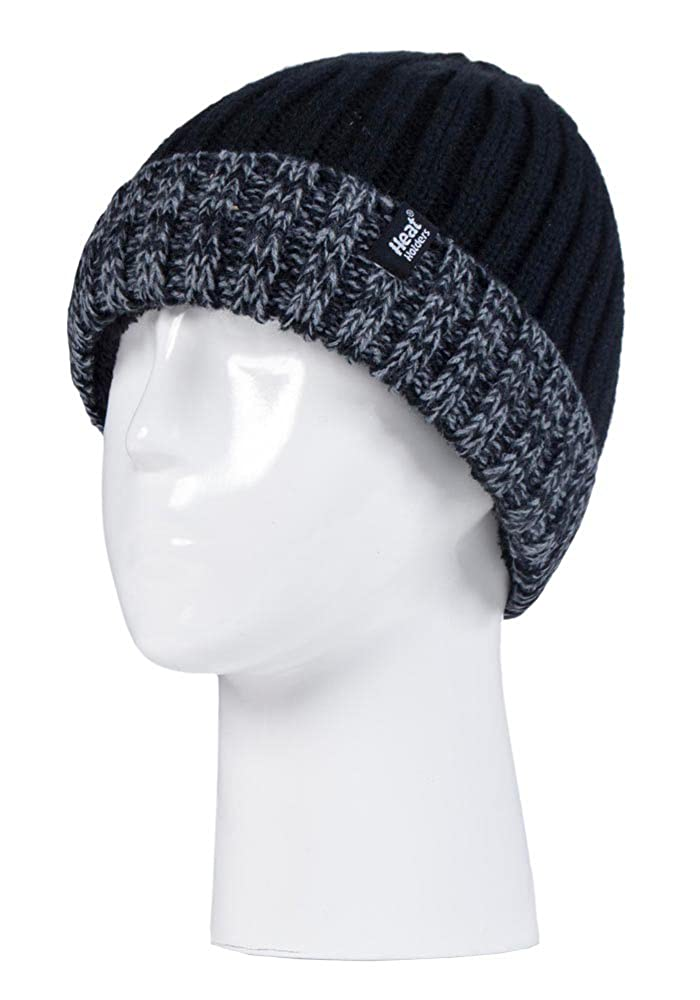 Kids Boys Fleece Insulated Knit Winter Beanie Hat and Gloves Set Heat Holders