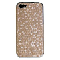 Exian 5G046-Gold iPhone SE/5/5s Case Hexagon Pattern Gold-Retail