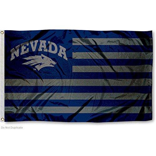 University of Nevada Wolf Pack Alumni Nation Stripes Flag