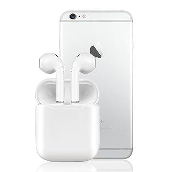 2S Shop Auriculares Bluetooth Auriculares Bluetooth Auriculares Sin Cables Auriculares Deportivos Auriculares Estéreo con Cargador Portátil para iPhone X ...