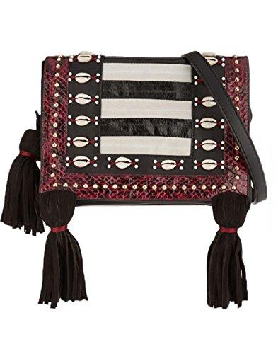 Tamara Mellon Charisma Bag, Red/Black/Ivory