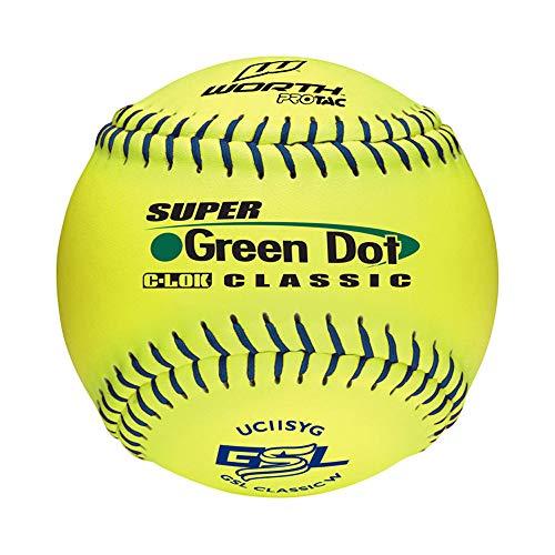 (Worth GSL Slow-Pitch Pro Tac Classic Soft Balls, 11