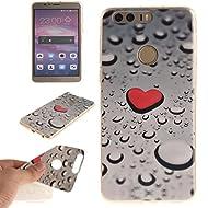 Pour Huawei Honor 8 Coque,Ecoway Housse étui en TPU Silicone Shell Housse Coque étui Case Cover Cuir Etui Housse de Protection Coque Étui Huawei Honor 8 –TX-09