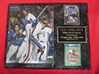 1986 Mets World Series Champions 2 Card Collector Plaque #2 w/8x10 Color Photo