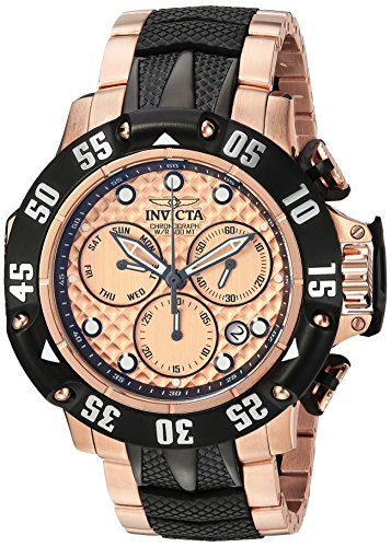 Invicta Men's 'Subaqua' Quartz Stainless Steel Casual Watch, Color:Black (Model: 23806)