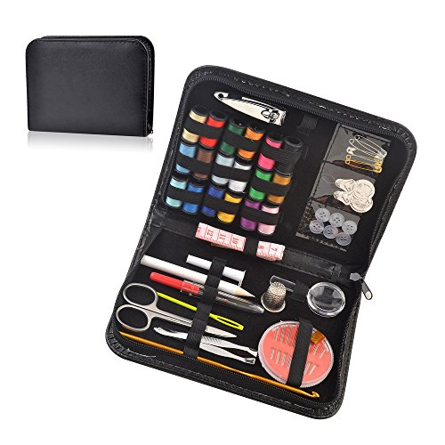 eZthings Professional Sewing Tool Supplies Variety Sets and Kits for Arts and Crafts (Black)