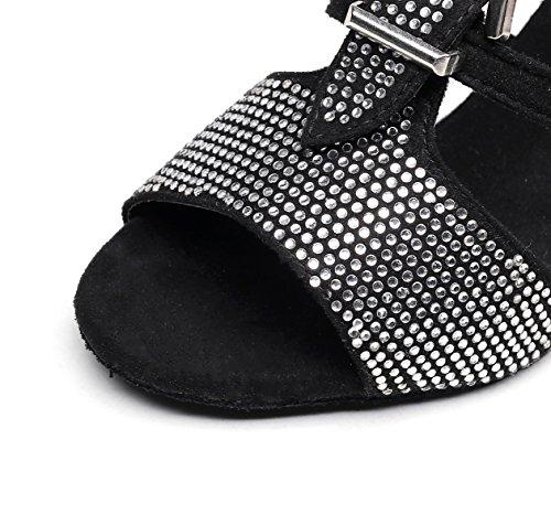 Modern heeled7 C Chacha Dance Our40 5cm Women's Samba Salsa JSHOE Latin Sandals UK6 Shoes Shoes Tango Heels EU39 Jazz High S68nwSZqB