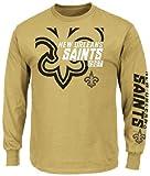 New Orleans Saints Harvest Gold Dual Threat VI (6) Long Sleeve T-Shirt