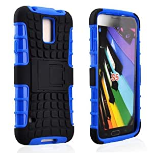 MOKOU Tough Rugged Layered Extreme Hybrid Belt Clip Holster Case For Samsung Galaxy S5 i9600