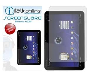 iTALKonline S-Protect (Pack of 12) 3 Capa de la tecnología LCD Protector de pantalla con un paño de limpieza de fibra Micro para Motorola Xoom MZ601 MZ604 MZ600
