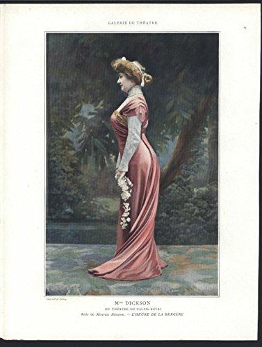 Mlle Dickson as Mistress Blossom 1909 vintage ballet theatre color - Ballet Blossom