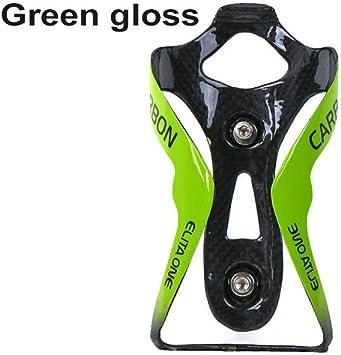 QIKU Portabidones de Carbono para Bicicleta 3k (Verde Brillante ...