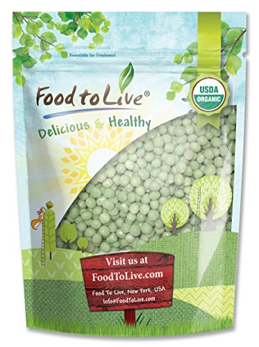 Fruit Deluxe Dried Tray (Organic Green Peas (Sproutable, Kosher, Non-GMO, Raw, Dried) by Food to Live — 4 Pounds)