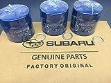 OEM Factory Subaru Engine Oil Filter & Crush Gasket (3 Pack) 15208AA12A Genuine 1990-2018