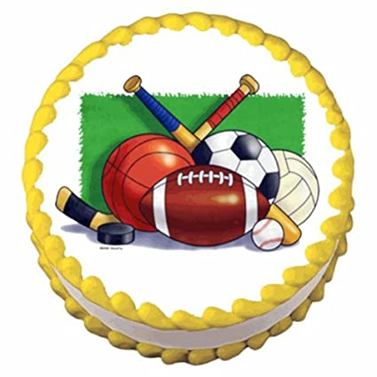 Deportes Collage Cumpleaños ~ Comestible imagen Pastel ...