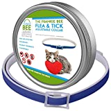 Dog Flea Treatment Collar - Waterproof Flea & Tick Collar Cats, Kittens, Dogs & Pets Frankie Bee Company | Powerful & Safe Ingredients All Ages & Breeds | 8-Month, Unique & Protective Formula Your Cat