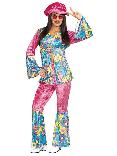 Flower Power Costume - Medium - Dress Size 8-10 (Hippie Dress Up)