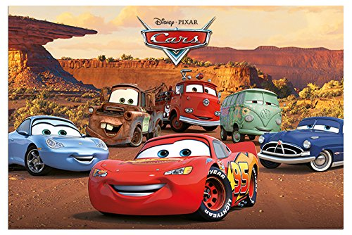 Disney Pixar Cars Characters Poster Gloss Laminated - 91.5 x 61cms (36 x 24 Inches)