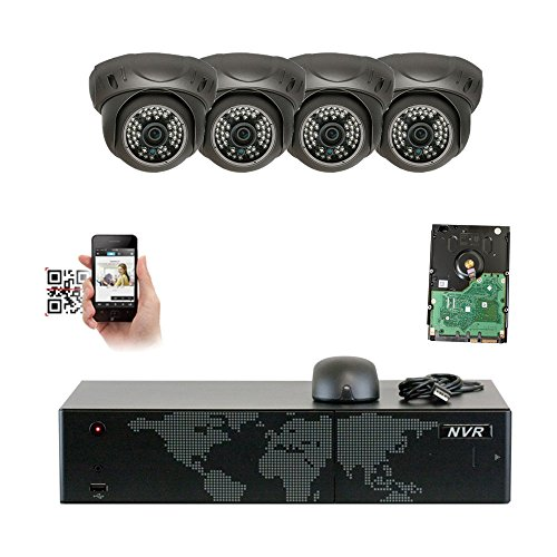 Gw Security 4 Camera System 5mp Nvr Ip Camera Network Poe