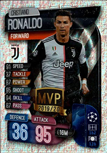 2019-20 Topps UEFA Champions League Match Attax Club MVPs #C JUV Cristiano Ronaldo JUVENTUS Official Futbol Soccer Trading Card Game Playing Card