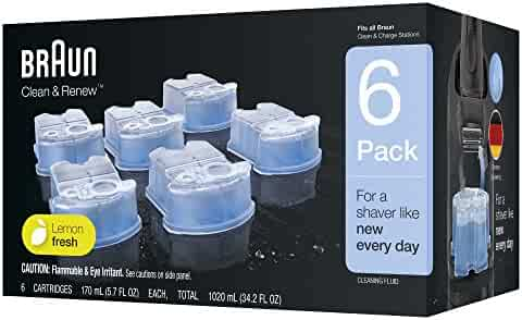 Braun Clean & Renew Refill Cartridges, 6 Count, Pack of 1