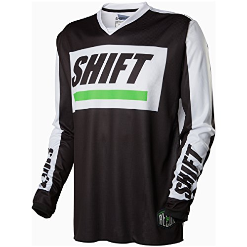 Jersey Top Love Label - Shift Racing Recon Caliber Men's Off-Road Motorcycle Jerseys - Black/White/Large