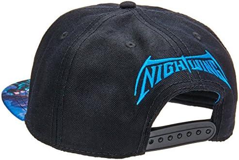 bioWorld DC Comics Batman Nightwing Logo Sublimated Bill Snapback Cap.  Loading Images. cfbd10a1dffc