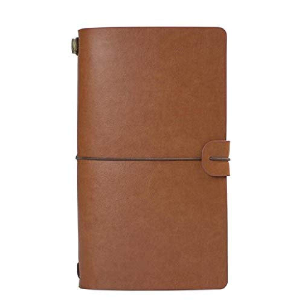 YouNB Notebook A6 Bound Journal Hand Account Small Book Travel Account Creative 3pcs (Color : Silver)@Khaki brown by YouNB