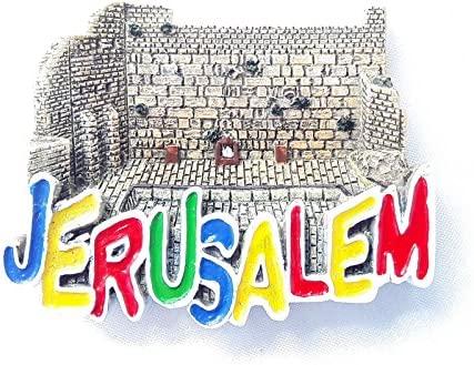 Souvenir Imán para nevera, diseño de la ciudad vieja de Jerusalén ...