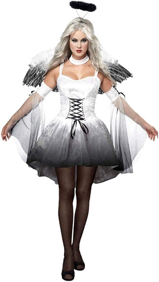 YHNUJMIK Disfraces de Miedo de Halloween Disfraces Cosplay Mujer ...