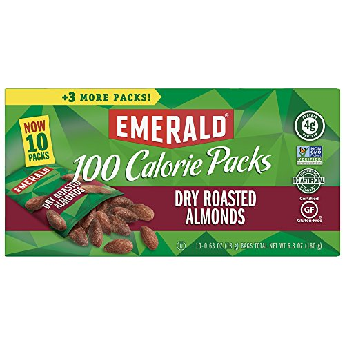 Emerald Nuts, Dry Roasted Almonds, 100 Calorie Packs, 0.63 oz, 10 ct