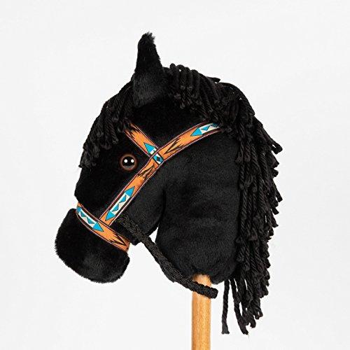 Montana Toy Company - Peggy's Ponies - Black Stick Pony - Stick Horse - Hobby Horse
