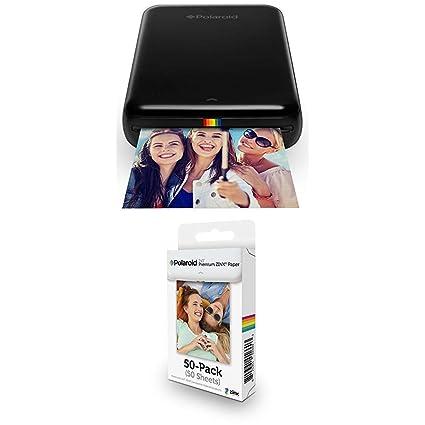 Polaroid Zip - Impresora móvil, Negro + Paquete de 50 Hojas ...