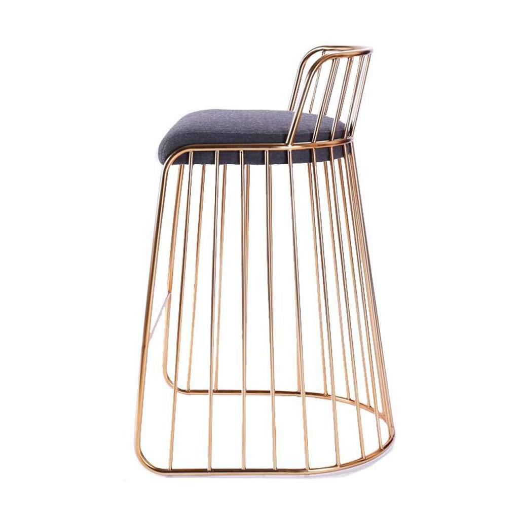 【税込?送料無料】 チェア Bar/スモールシート/モダンミニマリストパーソナリティゴールデンラウンジチェア創造的な鍛造鉄製のバーチェアーホームファッションドレッシングチェアダイニングチェア (サイズ : さいず : Bar chair) Bar Bar chair B07KQ7FHZL, ホシノムラ:9dbdd792 --- irlandskayaliteratura.org