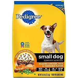 Pedigree Small Dog Complete Nutrition Adult Dry Dog Food Roasted Chicken, Rice & Vegetable Flavor, 15.9 Lb. Bag 40