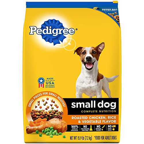 PEDIGREE Small Dog Adult Complete Nutrition Roasted Chicken, Rice & Vegetable Flavor Dry Dog Food; Formulated To Meet the Nutritional Levels Established by the AAFCO Dog Food Nutrient Profiles For Maintenance
