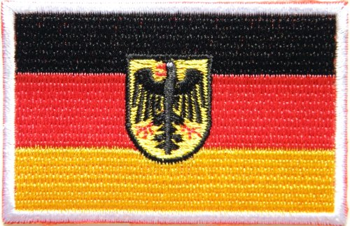 Germany German Eagle Bundesdienst Logo Biker Jacket T shirt Patch Sew Iron on Embroidered Badge Custom -